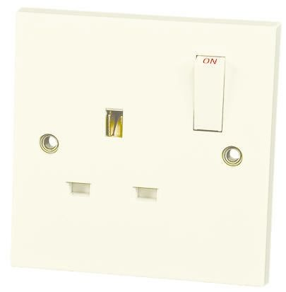 XL5357 RS PRO | RS PRO White 1 Gang Power Socket, 13A, BS
