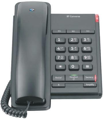 BT Converse 2100 Telephone Black