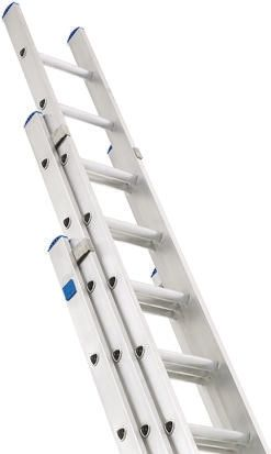 Zarges Extension Ladder 36 steps Aluminium 8.3m open length