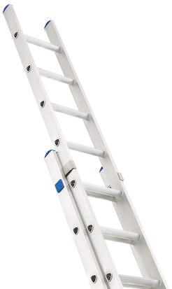 Zarges Extension Ladder 24 steps Aluminium 6.06m open length