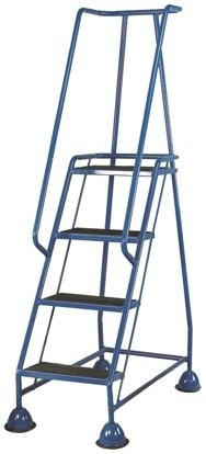 RS PRO 1725mm 4 Rung Steel Steps