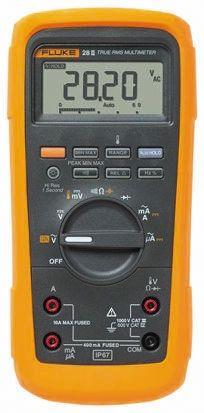 Fluke 28 Handheld Digital Multimeter, 10A ac 1000V ac 10A dc 1000V dc