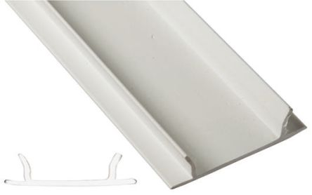 rs pro pvc 50 x 50mm lighting trunking cover lid rs components