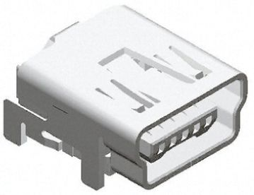 Molex On-The-Go Series, 67800 Series Number Right Angle SMT, Version 2.0 Type B Mini USB Connector, Receptacle