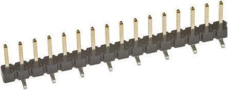 Amphenol FCI BergStik, 2.54mm Pitch, 16 Way, 1 Row, Straight Pin Header, Surface Mount