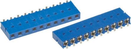 Amphenol FCI 2.54mm Pitch 12 Way 1 Row Straight PCB Socket, Surface Mount, Solder Termination