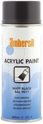 Ambersil 400mL Black Matt Spray Paint