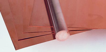 HDHC copper rod stock,1m L 12mm dia