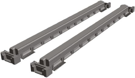 TE Connectivity Free Height Series 0.5mm Pitch 440 Way 2 Row Straight PCB Socket, Surface Mount, Solder Termination