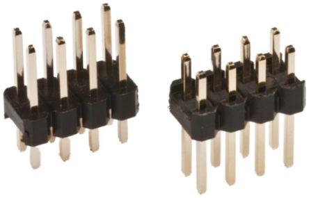 Pack of 100 Harwin Headers /& Wire Housings 02+02 DIL VERTICAL SMT HEADER TIN,