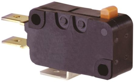 SPDT-NO/NC Pin Plunger Microswitch, 16 A @ 250 V ac