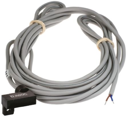 DA-80C Series reed Switch, 3m Fly Lead, Rail Mounted product photo