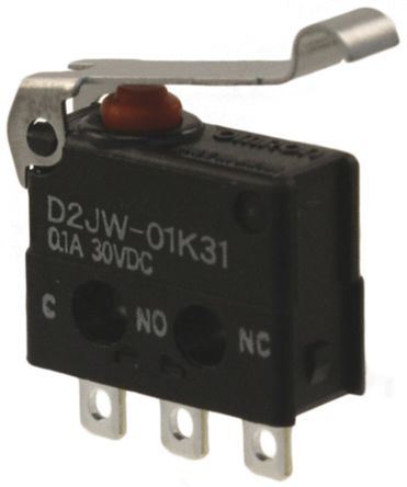 Solder 30 VDC Miniature SPDT Lever 100 mA Microswitch