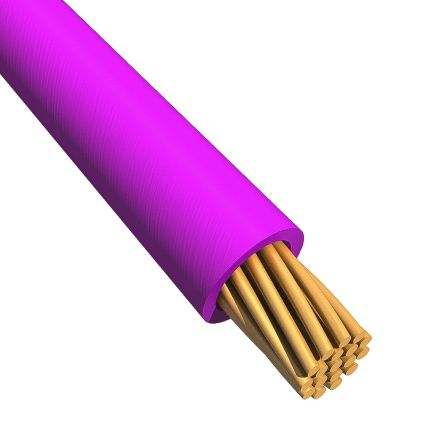 EcoWire Series Purple Hook Up Wire UL11028, 3.3 mm² CSA , 600 V 12 AWG, 30m product photo
