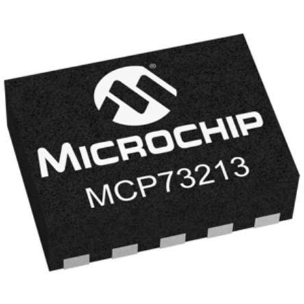 Microchip MCP73213-A6SI/MF, Lithium-Ion, Lithium-Polymer, Dual Battery Charger, 1.1A 10-Pin, DFN