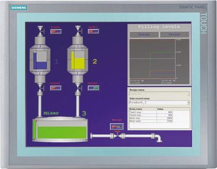 Siemens TP 1500 Series Touch Screen HMI 15 in TFT LCD 1024 x 768pixels