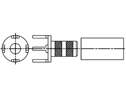 Amphenol Straight RF Terminator, PCB Mount RG178 B/U, RG196 A/U