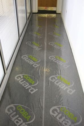 guard Clear Carpet Floor Protection Self Adhesive Cleanroom x 1.2m, 50m 0.09mm product photo
