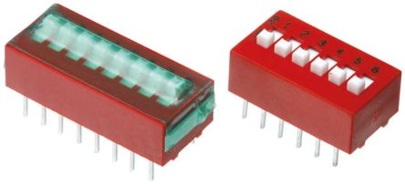 4 Way Through Hole DIP Switch SPST product photo
