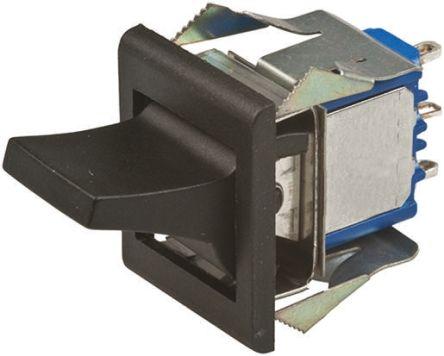 APEM 船型开关, 单刀双掷 (SPDT)触点, 黑色, 触点额定电流 4 A @ 30 V 直流, 开-关-(开)开关