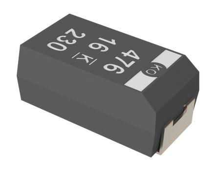 KEMET Tantalum Capacitor 1000μF 2.5V dc Polymer Solid ±20% Tolerance T520 Series