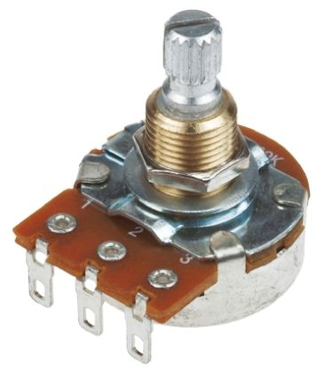Bourns Logarithmic Audio Potentiometer with a 6 mm Dia  Shaft, 250kΩ, ±20%,  0 25W PDB241-GTR01-254A2