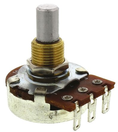 Bourns Logarithmic Audio Potentiometer with a 6 35 mm Dia  Shaft, 500kΩ,  ±20%, 0 25W PDB241-GTR02-504A2