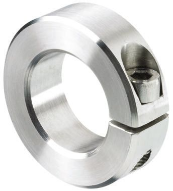 Ruland ENSP45-24MM-SS 303 Stainless Steel Shaft Collar Thin Line 24 mm Bore 45 mm OD Two Piece 10 mm Width