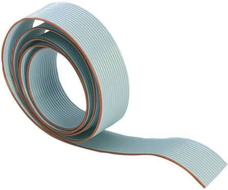 Harting 6 Way Unscreened Flat Ribbon Cable, 7.28 mm Width, 30m