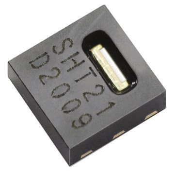 Sensirion SHT21, Temperature & Humidity Sensor -40 → +125 °C ±0.3 °C, ±2 %RH Serial-I2C, 6-Pin DFN