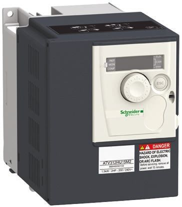 Schneider Electric Inverter Drive, 1-Phase In, 0 5 → 500Hz Out 1 5 kW, 230  V with EMC Filter, 15 8 A ALTIVAR 312