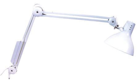 EDL Lighting Limited Incandescent Medical Examination Light, 60 W, Reach:1100mm, Spring Balanced, 230 V, Lamp Supplied