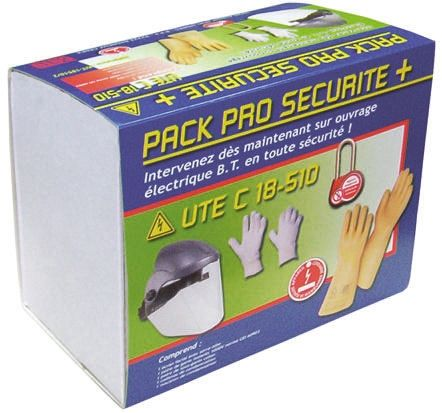 General Personal Protection Kit Containing Cotton Under Glove x 2, Flash Light, Head Torch, Insulating Gloves x 2, Lock