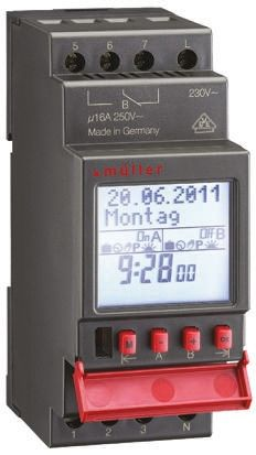 2 Channel Digital DIN Rail Switch Measures Minutes,