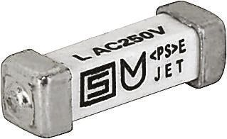 Schurter 630mA T Non-Resettable Surface Mount Fuse, 125 V dc, 250 V ac