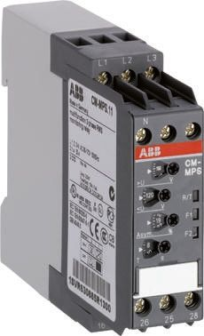 ABB Phase, Voltage Monitoring Relay With 2NO/2NC Contacts, 180 → 280 V ac,  3 Phase