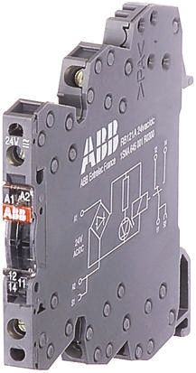 ABB Optocoupler, Max. Forward 24 V, Max. Input 3.6 mA, 70mm Length, DIN Rail Mounting Style