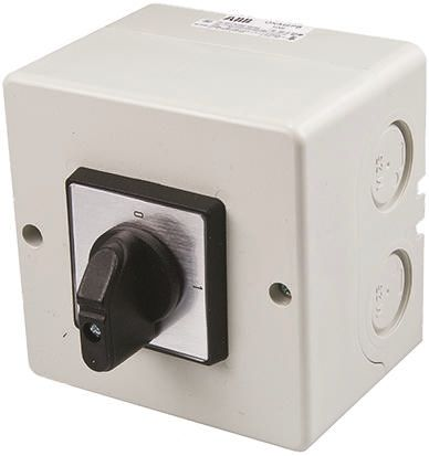 2 positions Rotary Switch, 600 V, 25 A, Rotary Handle