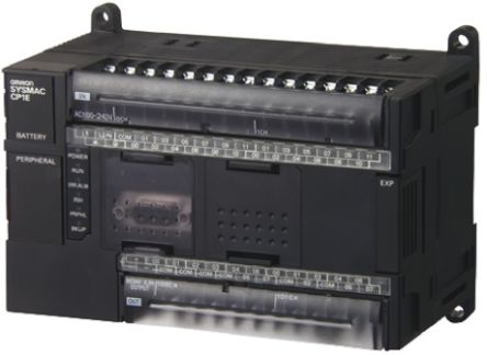 Omron CP1E PLC CPU, USB Networking Computer Interface, 32 kB Program  Capacity, 24 Inputs, 16 (Transistor) Outputs, 20 4