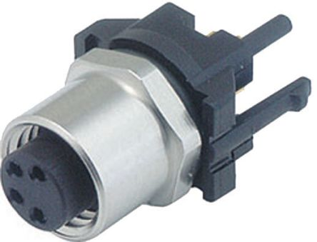 Binder 718 Series M8 Female Panel Mount Connector, 4 contacts Plug