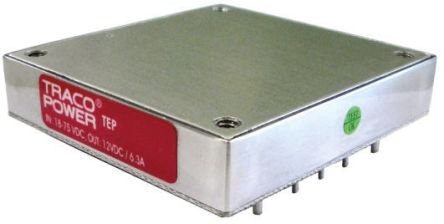 TRACOPOWER TEP 160WIR 142 → 182W Isolated DC-DC Converter Through Hole, Voltage in 43 → 160 V dc, Voltage