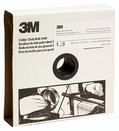 3M Aluminium Oxide Medium Abrasive Cloth Roll, 25m x 25mm