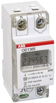 ABB LCD Digital Power Meter, 6-Digits, 1 Phase , ±1 % Accuracy