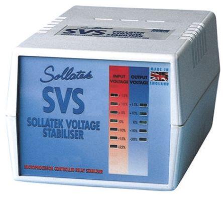 Sollatek Voltage Stabilizer 230V ac 2A Over Voltage and Under Voltage, 460VA UK Plug, Desktop