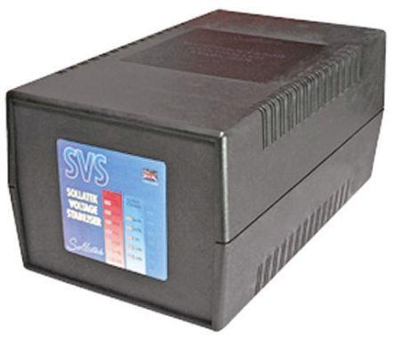 Sollatek Voltage Stabilizer 230V 8A Over Voltage and Under Voltage, 1920VA Schuko Plug, Desktop