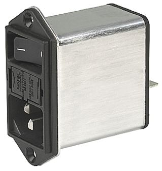 AC Power Entry Modules 15 A 2 POLES PROT SCREW MOUNT W//FILTER