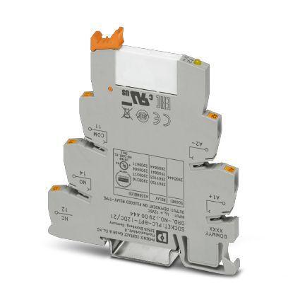 PLC-RPT- 12DC/21AU Series 12V dc DIN Rail Interface Relay Module, SPDT, Surface Mount product photo