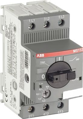 ABB 0.55 kW Manual 3P Motor Protection Circuit Breaker, 690 V ac, 1, 3 Phase, IP20