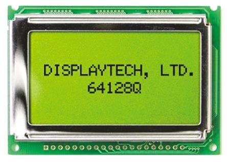 Displaytech 64128Q FC BC-3LP Graphic LCD Display, Black on White,  Transflective