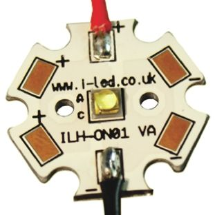 ILS ILH-OW01-WMWH-SC211-WIR200., OSLON 150 1+ PowerStar Circular LED Array, 1 White LED (3000K)